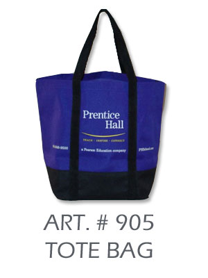 prentice hall tote bag
