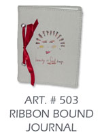 ribbon bound journal